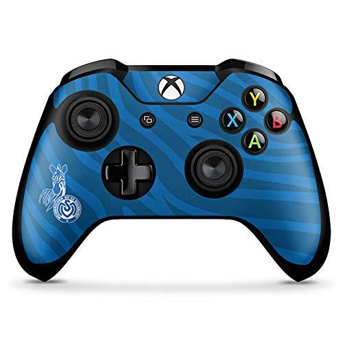 DeinDesign Skin kompatibel mit Microsoft Xbox One X Controller Folie Sticker Zebra MSV Duisburg Fanartikel