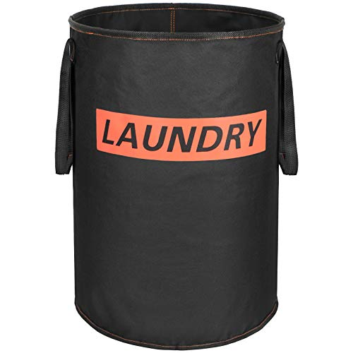 Lifesela Large Laundry Hamper Collapsible Laundry Baskets with Handles Durable Dirty Clothes Hamper for Bedroom Foldable Freestanding Laundry Bin Cloth Washing Bin for Bathroom 75LBlack