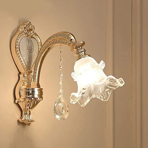 Lámpara De Pared Simple Y Fresca Interior moderna moderna lámpara de pared/moderna dormitorio lámpara de pared sala de estar cristalino, accesorios iluminación de pared luz de metal de cristal de vi