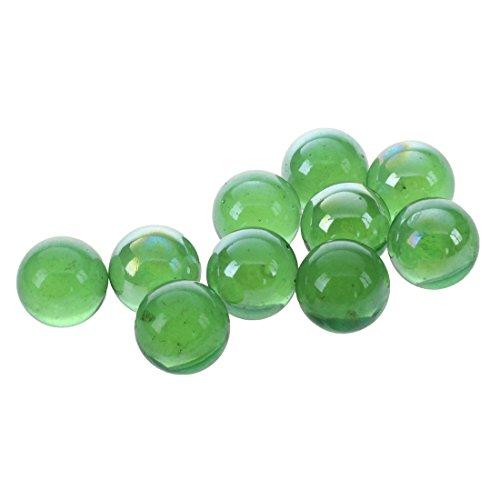 Fltaheroo 10pcs Bille Perle Ronde Verre Marbre Jeux Jouet Enfant Vase Aquarium Poisson Decoration Vert