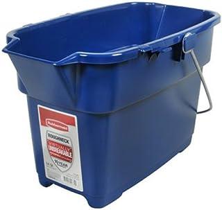 Rubbermaid 1793555 Roughneck Rectangle Bucket, 14-Quart, Blue