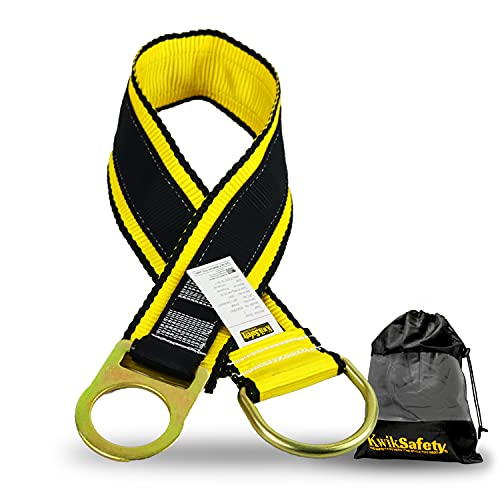KwikSafety (Charlotte, NC) GIBBON GRIP 3 ft Safety Anchor Cross Arm Strap Beam Choker ANSI Fall Arrest System Web pass thru Double D Ring Anchorage Sling OSHA Protection Harness Lanyard