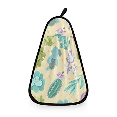 Sinestour Cactus Aquarell-Hänge-Handtücher für Badezimmer, dekorative Reinigungstücher für Küchentücher, Lappen mit Schlaufe zum Aufhängen
