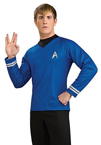 Star Trek Dlx Deluxe Shirt T-Shirt blau Kostüm Gr. L, M, XL, Größe:XL