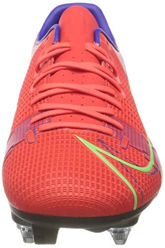 Nike Unisex Vapor 14 Academy SG-PRO AC Soccer Shoe, BRT Crimson MTLC Silver Indigo Burst White Rage Green, 9 UK