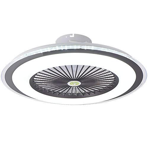Ventilador De Techo LED Con Iluminación 80W Luz De Techo Fan Silencioso Invisible Lámpara De Techo Regulable Con Control Remoto Lámpara De Ventilador Moderna Habitación Para Niños Dormitorio (Brown)
