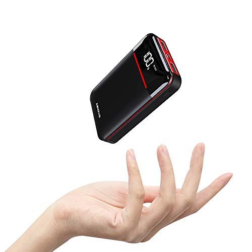 Aikove Batterie Externe 10000 mAh, Chargeur Portable avec 2 Ports USB Sortie Haute Capacité Power Bank Compatible avec Tous Les Smartphones