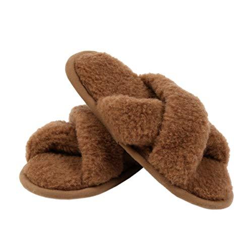 90% Merinowolle 10% Kamelwolle Hausschuhe Pantoffel Erwachsene Winter Beinstulpen Damen Herren