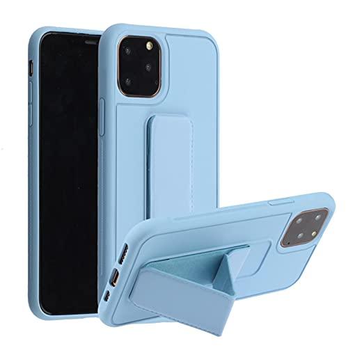 Suhctup Anti-caída Silicona Funda Compatible con Samsung Galaxy S5,Color Puro Moda Antigolpe Carcasa con Magnética Soporte para Teléfono de Coche, Soporte Plegable de Pulsera.