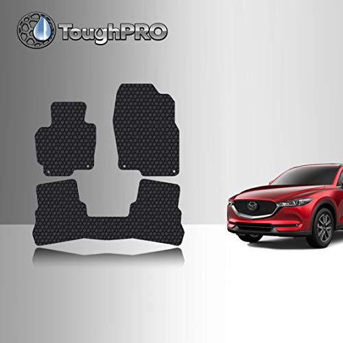 TOUGHPRO Floor Mat Accessories Set (Front Row + 2nd Row) Compatible with Mazda CX-5 - All Weather - Heavy Duty - (Made in USA) - Black Rubber - 2017, 2018, 2019, 2020, 2021