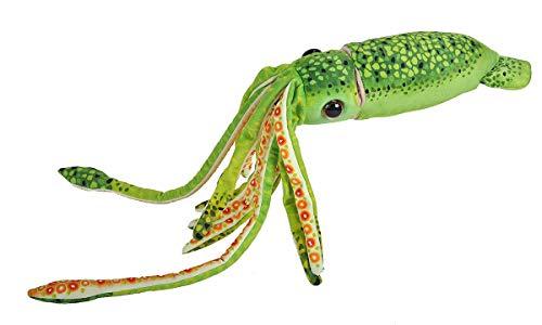 Wild Republic Wr Print Squid Green Plush, Stuffed Animal, Plush Toy, Gifts for Kids, 22'