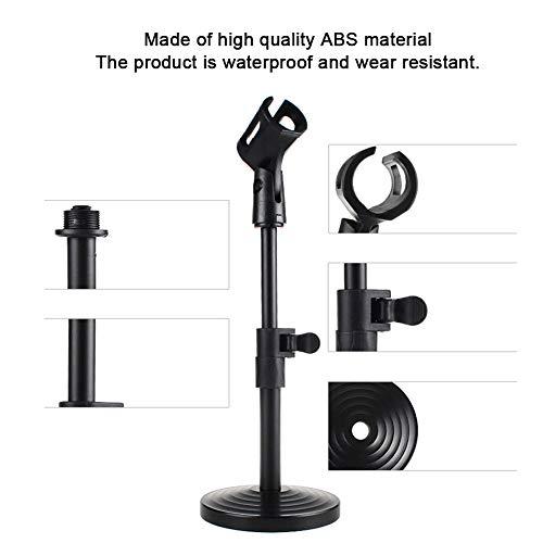 SANON microfoonstandaard verstelbare hoek waterdicht en slijtvast tafelmicrofoonstandaard met PC-02 ijzerbasis.