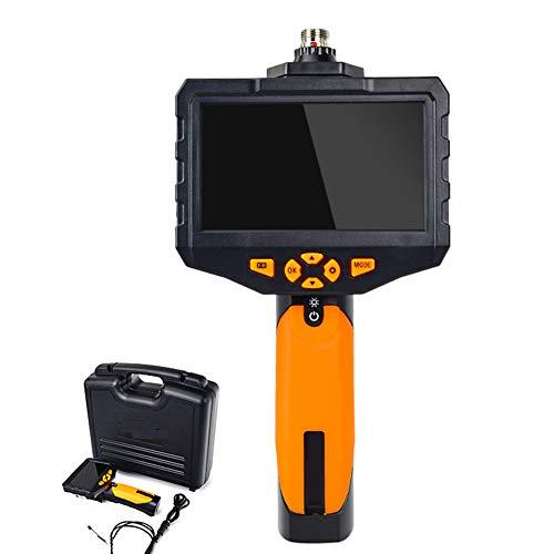EndoskopKamera Hand Industrie 4,3-Farb-IPS-Monitor, 1080P Endoskop 4mm Durchmesser IP67 wasserdichte Doppellinse Inspektionskamera, Verschiedene Längen Auswahl,1m