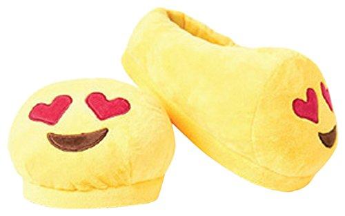 Love Bomb Cushions Pantoufles en Coussin Emoji en Yeux de Coeur de 0056L