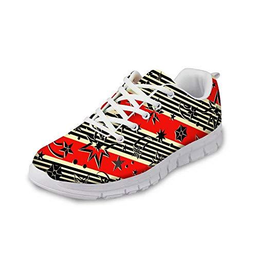 MODEGA Böhmen-Schuhturnschuh Bunte Reise-Schuhe Schuhe für Junge Schuhe Jugendsport Schnürsenkel Bequeme Turnschuhe für Frauen Plus Größe Fuß kühlen Lauf Bowling Größe 41 EU 7 UK