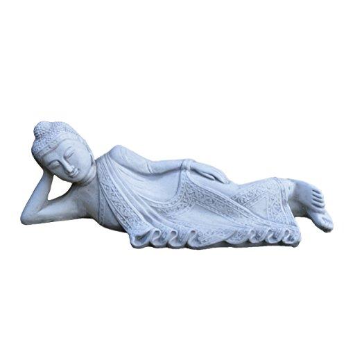 gartendekoparadies.de Massive Steinfigur Buddha - Figur aus Steinguss, frostfest, Feng Shui Raumdeko