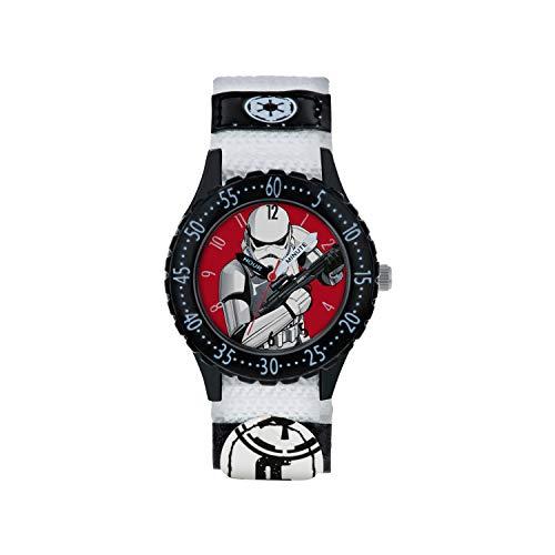 Star Wars Reloj Analógico para Niños de Cuarzo con Correa en Tela STM5002