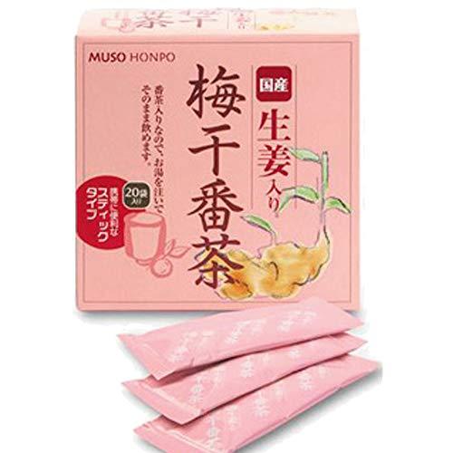梅干し番茶 生姜・番茶入り梅醤 (スティック) 8g×20入  3箱