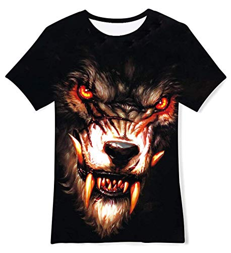 RAISEVERN Manches Courtes Cool Black Paint Imprimé T Shirt personnalisé Ras du Cou Tshirt Tee Tops...