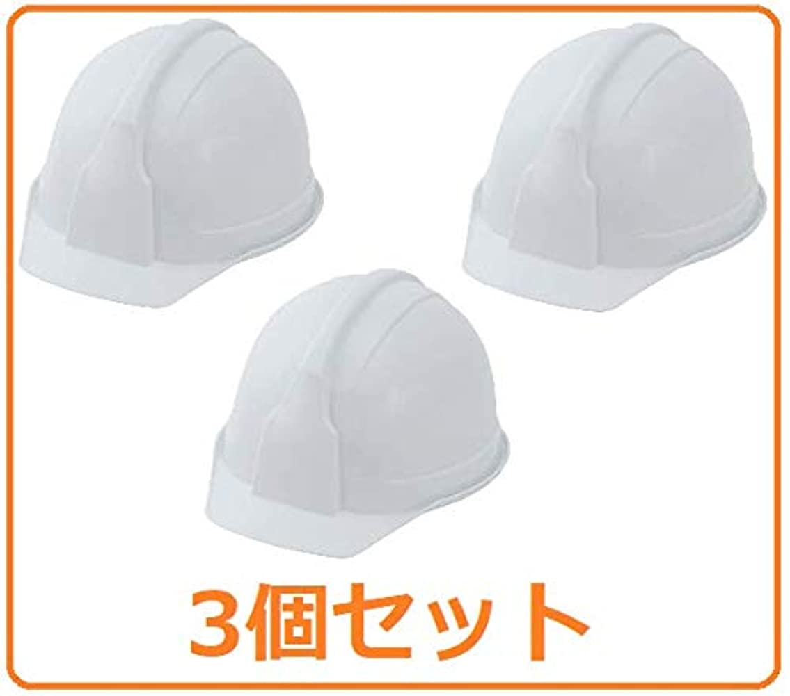 夢中サーフィン教国家検定品 ヘルメット アメリカンタイプ SS-100型AJZ(発泡スチロール入) ホワイト FS-100AJ 3個セット