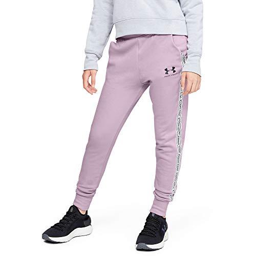 Under Armour Mädchen Hose Sportstyle Fleece Pants, Rosa, YLG, 1348204-694