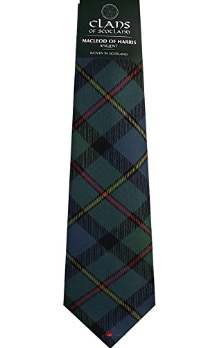 I Luv Ltd MacLeod of Harris Ancient Clan 100% Wool Scottish Tartan Tie