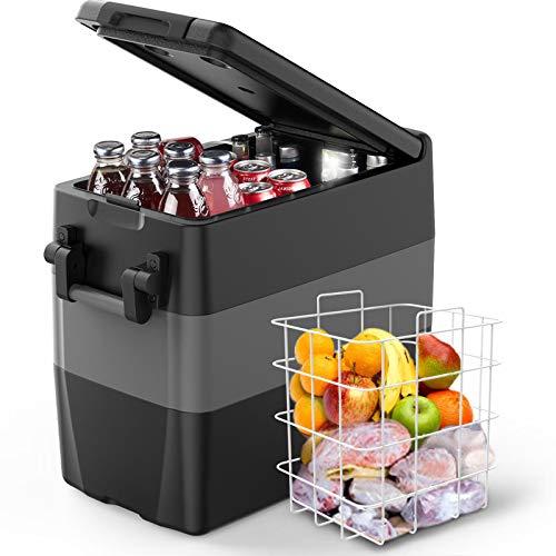 F40C4TMP Portable Refrigerator Freezer for Truck 53 Quart (50L) Car Freezer Fridge(-4℉~50℉)