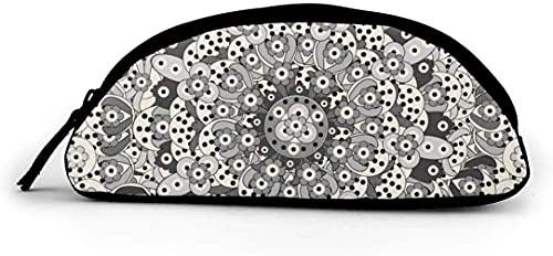 WHI-TS Practical Halbkreis-Federmäppchen with Zipper Islam Arabic Pen Case Kosmetiktasche Coin Bag