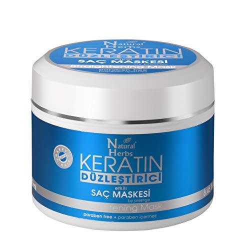 Seed Natural Herbs Keratin Haarmaske mit Glätt-Effekt- Keratin Haarkur 250 ml - Keratin Behandlung für Haare - Haarmaske für geschädigtes Haar- Hitzeschutz für haare & Keratin Haarglättung