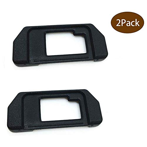 EP-10 Eyepiece Eyecup Viewfinder Eye Cup Replacement for Olympus OM-D E-M10/E-M5 Mark I Silver/Black Mirrorless Digital Cameras (2-Pack), ULBTER Viewfinder Eye Cup Cover EM5 EM10