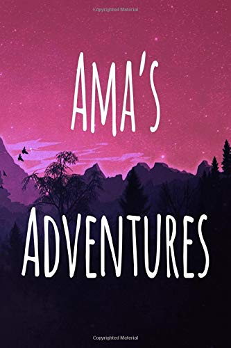 Ama's Adventures: Personalised Name Notebook - 119 Page Journal! Perfect Gift!