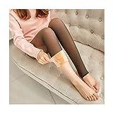 ZZYLHS Leggings De Invierno Gruesas Legins Mujeres Través De La Carne Caliente Pantalones Polainas De Las Mujeres Calientes De Malla Leggins For Las Mujeres (Color : Thick Socks, Size : One Size)
