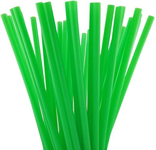SKEMIX 10 Inch Drinking Straws (10 Inch x 0.28 Inch) (250, Green)