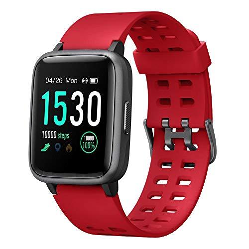 Willful Smartwatch,Fitness Armbanduhr mit Pulsuhr Touchscreen Fitness Uhr IP68 Wasserdicht Fitness Tracker Sportuhr mit Schrittzähler Stoppuhr Smart Watch für Damen Herren für iOS Android Handy