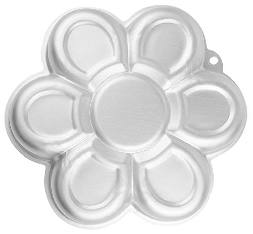 WJSYSHOP 10 Inch Plum Blossom Petal Shaped Aluminum 3D Cake Mold Baking Mould Tin Cake Pan - Flower
