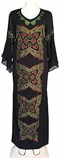 QGTDRESS Stretch High Chiffon Slim Fishtail Long Dress, Size:L(Black) (Color : Black)