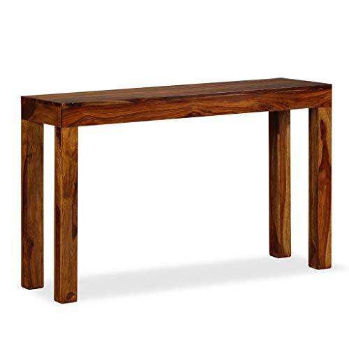 vidaXL Table Console Table de Présentation Bois de Sheesham Massif 120x35x75 cm