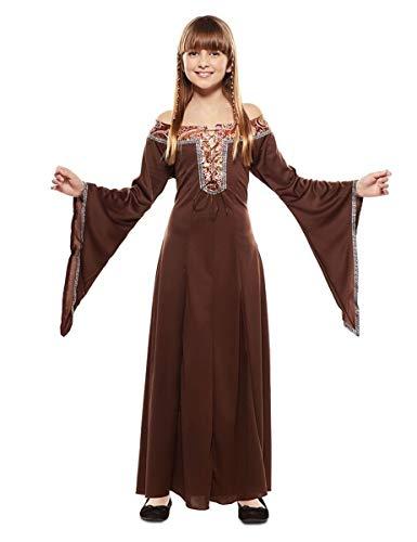 EUROCARNAVALES Disfraz de Dama Medieval Marrón para niña