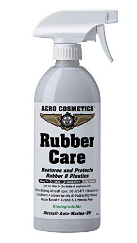 Aero Cosmetics Tire Dressing, Tire Protectant, No Tire Shine, No Dirt Attracting Residue, Natural Satin/Matte Finish, Aircraft Grade Rubber Tire Care Conditioner, Better Than Automotive Products 16 Ounces Grey