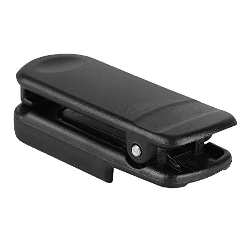Exliy Clip Trasero para walkie Talkie CLIP-14, Clip para cinturón Original de Radio bidireccional Negro, Clip Duradero para walkie Talkie