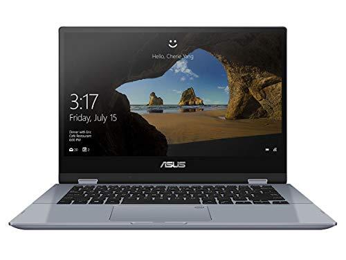 """ASUS VivoBook Flip TP412FA-EC649T - Ordenador Portátil de 14"""" Full HD (Intel Core i3-10110U, 8GB RAM, 256GB SSD, Intel UHD Graphics, Windows 10 Home) Azul Galaxia-Teclado QWERTY español"""