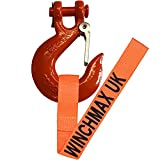 Winchmax - Gancho para cabrestante, color naranja