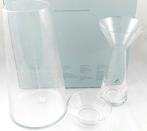 1a PartyLite - Kerzenhalter SYMMETRIE - P95075 - Glas