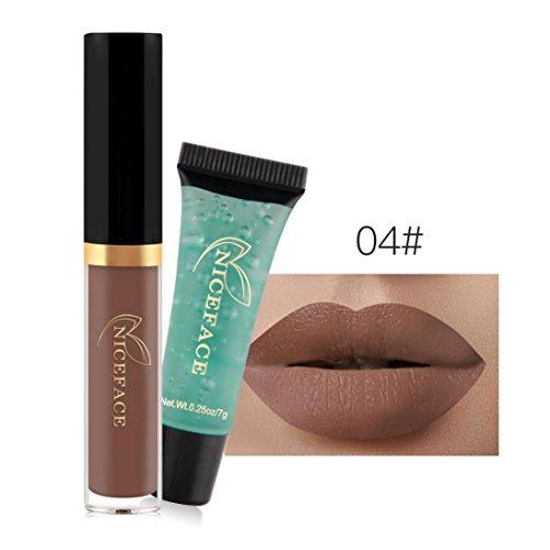 24 Colores Profesional Pintalabios Mate Labial de Maquillaje Larga Duracion Gel limpiador...
