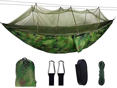 Tiendas de campaña para acampar Hamaca Al aire libre Mosquitera Hamaca 210T Anti-Mosquito Paño de paracaídas Tienda de acampeón de aire para al aire libre Senderismo Mochilero (Color: Multicolor, Tama