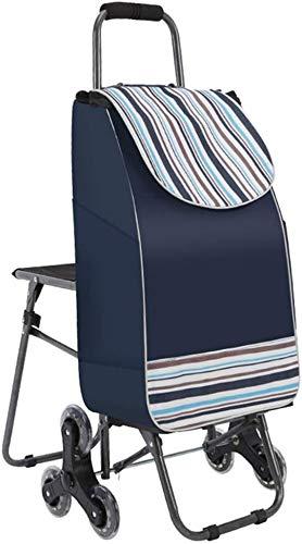 Zjnhl JIAN trolley voor het opstijgen van trappen, inklapbaar, met draagbare stoel, kinderwagen en buggy, dikke stof, waterafstotend (kleur: rood)