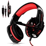 [K].dandee Cuffie Gaming per Pc Giochi Ps4 Console Ps4 PRO Playstation 4 E 5 Xbox One X Cuffie da Gaming Over Ear Headset con Microfono E Jack LED Accessori Ps4