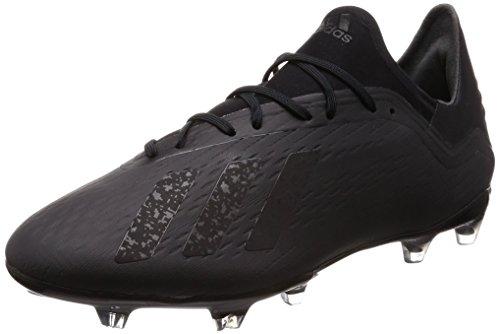 Adidas X 18.2 Fg, heren-voetbalschoenen, zwart (Cblack/Cblack/Ftwwht Cblack/Cblack/Ftwwht), 46 2/3 EU
