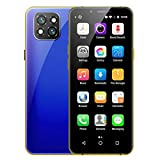 X60 Mini Unlocked 4G Smartphone 3.5 Inch Dual Sim Card Phone 3GB 32GB 1800mAh Android 6.0 Face ID Cellphone Fully Unlocked Android Smartphone 4G LTE Portable Mobile Phone (Blue)