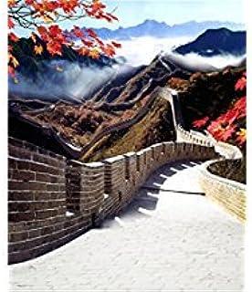 Laeacco Fotohintergrund aus Vinyl, 90 x 150 cm, Motiv: China, tolle Wandlandschaft, 1 x 1,5 m